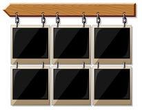 στιλπνός ξύλινος πλαισίων  διανυσματική απεικόνιση