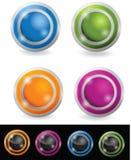 στιλπνός σφαίρα κουμπιών απεικόνιση αποθεμάτων