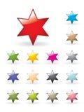 στιλπνό αστέρι συλλογής Στοκ Φωτογραφίες