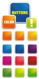 στιλπνό διάνυσμα κουμπιών Στοκ εικόνα με δικαίωμα ελεύθερης χρήσης