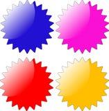 Στιλπνό διαμορφωμένο αστέρι διακριτικό Στοκ Εικόνες
