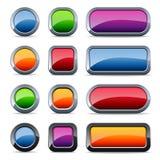 στιλπνό μέταλλο κουμπιών Στοκ εικόνα με δικαίωμα ελεύθερης χρήσης