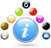 στιλπνό σύνολο κουμπιών ελεύθερη απεικόνιση δικαιώματος