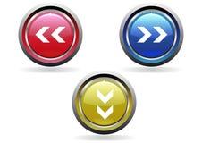 στιλπνό σύνολο κουμπιών Στοκ Φωτογραφία