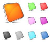 στιλπνό διάνυσμα κουμπιών Στοκ εικόνες με δικαίωμα ελεύθερης χρήσης
