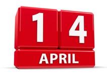 Στις 14 Απριλίου κύβων απεικόνιση αποθεμάτων