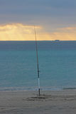στις αρχές πρωινού αλιεία& Στοκ Φωτογραφία