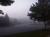 στις αρχές πρωινού ομίχλης Στοκ εικόνες με δικαίωμα ελεύθερης χρήσης