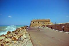 Στις 25 Αυγούστου της Κρήτης Ηράκλειο: Ενετικό φρούριο Koules Στοκ Φωτογραφία