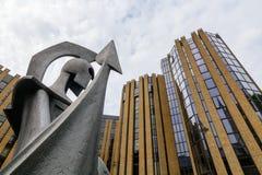 Στις 17 Αυγούστου του Λονδίνου, Ηνωμένο Βασίλειο †«: Σύγχρονες λεπτομέρειες αρχιτεκτονικής Στοκ φωτογραφίες με δικαίωμα ελεύθερης χρήσης