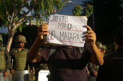 Στις 21 Δεκεμβρίου διαμαρτυρίας της Ονδούρας - 2017 Τεγκουσιγκάλπα Ονδούρα 5 Στοκ Εικόνες