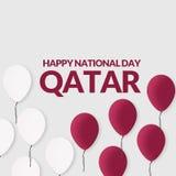Στις 18 Δεκεμβρίου εορτασμού εθνικής μέρας του Κατάρ υποβάθρου Στοκ Φωτογραφίες