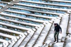 Στις 10 Ιανουαρίου του Βουκουρεστι'ου, Ρουμανία †«: Αμφιθέατρο πάρκων Tineretului Στοκ εικόνες με δικαίωμα ελεύθερης χρήσης