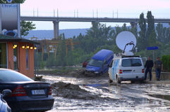 Στις 19 Ιουνίου της πλημμυρίζοντας Βάρνας, Βουλγαρία Στοκ φωτογραφίες με δικαίωμα ελεύθερης χρήσης
