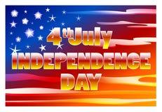 Στις 4 Ιουλίου ΑΜΕΡΙΚΑΝΙΚΗΣ ημέρας της ανεξαρτησίας Στοκ Φωτογραφίες