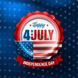 Στις 4 Ιουλίου ημέρας της ανεξαρτησίας Ευτυχές στις 4 Ιουλίου ΑΜΕΡΙΚΑΝΙΚΗΣ ημέρας της ανεξαρτησίας στοκ εικόνες