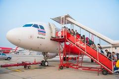 Στις 12 Μαΐου της Μπανγκόκ Ταϊλάνδη:: πριν από την απογείωση για το ταξίδι στο Βιετνάμ Στοκ Εικόνες