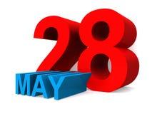 Στις 28 Μαΐου διανυσματική απεικόνιση