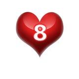 Στις 8 Μαρτίου καρδιών Στοκ εικόνες με δικαίωμα ελεύθερης χρήσης