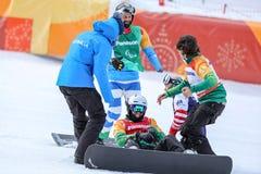 2018 στις 12 Μαρτίου Peyongchang 2018 παιχνίδια Paralympic στο νότο Kore στοκ φωτογραφία με δικαίωμα ελεύθερης χρήσης