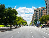 Στις οδούς της Βαρκελώνης στοκ εικόνες