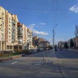 Στις οδούς Sloviansk στοκ φωτογραφία