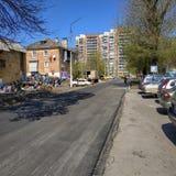 Στις οδούς Sloviansk στο μέσο τον Απρίλιο του 2019 στοκ φωτογραφίες με δικαίωμα ελεύθερης χρήσης