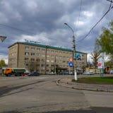Στις οδούς Sloviansk στο μέσο τον Απρίλιο του 2019 στοκ φωτογραφίες