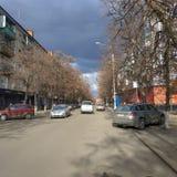 Στις οδούς Sloviansk τέλη Μαρτίου του 2019 στοκ φωτογραφία με δικαίωμα ελεύθερης χρήσης