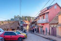 Στις οδούς της ανώτερης πόλης Fianarantsoa Στοκ φωτογραφία με δικαίωμα ελεύθερης χρήσης