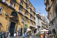 Στις οδούς της Νάπολης, Ιταλία Στοκ Φωτογραφία