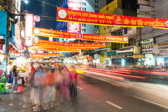στις 13 Φεβρουαρίου της Μπανγκόκ, Ταϊλάνδη -2016: Μια άποψη της πόλης της Κίνας στη Μπανγκόκ Στοκ Εικόνα