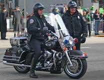 Μητροπολιτική αστυνομία της Ινδιανάπολης με τις μοτοσικλέτες Στοκ φωτογραφίες με δικαίωμα ελεύθερης χρήσης
