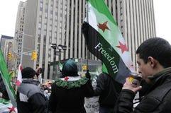 Συνάθροιση στο σημάδι 2 έτη συριακής επανάστασης στο Τορόντο Στοκ Εικόνες