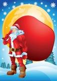 Στιλβωμένο Santa με την τσάντα Στοκ φωτογραφία με δικαίωμα ελεύθερης χρήσης