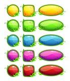 Στιλπνά κουμπιά φύσης καθορισμένα Στοκ Εικόνα