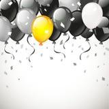 Στιλπνά χρόνια πολλά μπαλόνια χρώματος Στοκ εικόνες με δικαίωμα ελεύθερης χρήσης