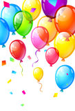 Στιλπνά χρόνια πολλά μπαλόνια χρώματος Στοκ εικόνα με δικαίωμα ελεύθερης χρήσης