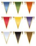 Στιλπνές σημαίες Στοκ φωτογραφία με δικαίωμα ελεύθερης χρήσης