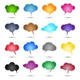 Στιλπνές χρωματισμένες φυσαλίδες Στοκ φωτογραφίες με δικαίωμα ελεύθερης χρήσης