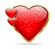 Στιλπνή καρδιά Στοκ φωτογραφία με δικαίωμα ελεύθερης χρήσης