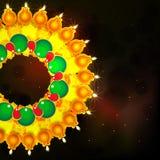 Στιλπνοί αναμμένοι λαμπτήρες για τον ευτυχή εορτασμό Diwali Στοκ φωτογραφία με δικαίωμα ελεύθερης χρήσης