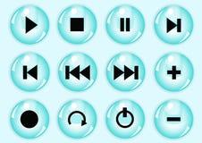 στιλπνό σύνολο κουμπιών Στοκ φωτογραφίες με δικαίωμα ελεύθερης χρήσης