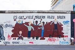 Στοά ανατολικών πλευρών στο Βερολίνο, Γερμανία Στοκ φωτογραφία με δικαίωμα ελεύθερης χρήσης