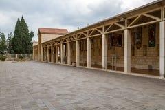 Στοά στη βασιλική Annunciation στη Ναζαρέτ, Ισραήλ Στοκ φωτογραφία με δικαίωμα ελεύθερης χρήσης