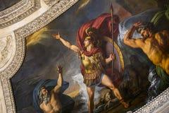 Στοά Apollon, το Λούβρο, Παρίσι, Γαλλία Στοκ Εικόνες