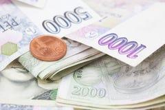 στοίβα εγγράφου χρημάτων ν στοκ εικόνες