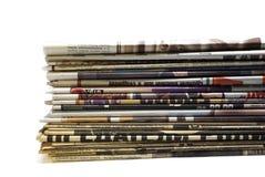 στοίβα εφημερίδων Στοκ εικόνες με δικαίωμα ελεύθερης χρήσης