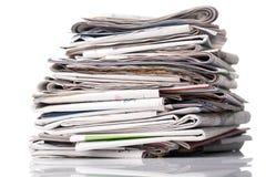 στοίβα εφημερίδων Στοκ Φωτογραφίες