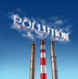 στοίβα καπνού ρύπανσης δηλ διανυσματική απεικόνιση